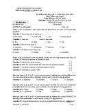 Đề kiểm tra HK 1 môn tiếng Anh lớp 6 năm 2017-2018 - Phòng GD&ĐT Cao Lãnh - Mã đề 603