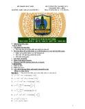 Đề cương ôn tập HK 1 môn Toán lớp 12 năm 2014-2015 - THPT Thuận Thành Số 1