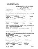 Đề kiểm tra HK 1 môn tiếng Anh lớp 6 năm 2017-2018 - Phòng GD&ĐT Cao Lãnh - Mã đề 604