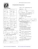 Ôn tập kiến thức chương 1 môn Toán lớp 12 - THPT Nguyễn Du, Thanh Oai, Hà Nội