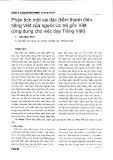 Phân tích một vài đặc điểm thanh điệu tiếng Việt của người Úc trẻ gốc Việt (ứng dụng cho việc dạy tiếng Việt)