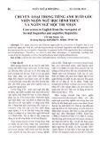 Chuyển loại trong tiếng Anh dười góc nhìn ngôn ngữ học hình thức và ngôn ngữ học tri nhận