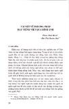 Vài nét về phương pháp dạy tiếng Việt qua hình ảnh