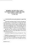 Hệ thống chữ viết tiếng Stiêng và vấn đề xây dựng từ điển đối chiếu Việt - Stiêng, Stiêng - Việt