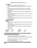 Đề cương ôn tập HK 1 môn Vật lí lớp 8 năm 2017-2018