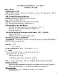 Đề cương ôn tập HK 1 môn Hóa học lớp 8 năm 2017-2018