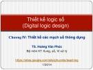 Bài giảng Thiết kế logic số: Lecture 4.2 - TS. Hoàng Văn Phúc