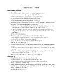 Bài tập ôn toán kinh tế