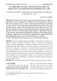 Tác động đối với Việt Nam khi tham gia hợp tác trong tiểu vùng sông Mê Công mở rộng (1992-2016)