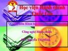 Bài giảng Tâm lý học đại cương - ThS. Nguyễn Thị Minh