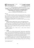 Nghiên cứu hoạt tính kháng khuẩn của loài gai ma vương (Tribulus terrestris L.) ở vùng đất cát tỉnh Bình Thuận