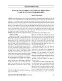 Năng suất lao động của công ty thủy nông và đề xuất cách tính định biên