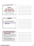 Bài giảng Vật lý đại cương A2: Chương 2 - TS. Nguyễn Thị Ngọc Nữ
