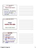 Bài giảng Vật lý đại cương A2: Chương 1 - TS. Nguyễn Thị Ngọc Nữ