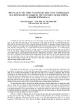 Phân lập, tuyển chọn và đánh giá khả năng cố định đạm của một số chủng vi khuẩn nốt sần ở rễ cây đậu phộng (arachis hypogaea. l)