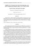 Nghiên cứu ứng dụng mã nguồn mở joomla xây dựng website hỗ trợ dạy học vật lý đại cương