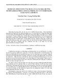 Đánh giá tiềm năng ứng dụng của cây hoa hướng dương (helianthus annuus) trong xứ lý ô nhiễm kim loại nặng cadmium
