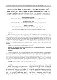 Nghiên cứu ảnh hưởng của điều kiện tách chiết đến hiệu quả thu nhận hoạt chất cordycepin từ nhộng Trùng Thảo  (Cordyceps militaris Linn. Link)