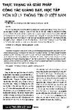 Thực trạng và giải pháp công tác giảng dạy học tập môn xử lý thông tin ở Việt Nam