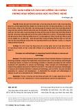 Các khái niệm và cách đo lường tài chính trong hoạt động Khoa học và Công nghệ