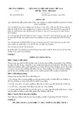 Thông tư số 16/2018/TT-BCT