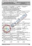 Đề thi học kì 2 môn Vật lý 11 năm 2018 có đáp án  - Trường THPT Nguyễn Khuyến