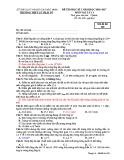 Đề thi HK 2 môn Vật lý 11 năm 2017 có đáp án - Trường THPT Lý Thái Tổ