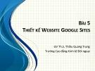 Bài giảng Tin văn phòng 2: Bài 5 - ThS. Thiều Quang Trung