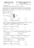 Đề kiểm tra 1 tiết môn Giải tích lớp 12 chương 2 - THPTĐông Thọ - Đề 4