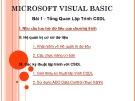 Bài giảng Microsoft Visual Basic: Bài 1 - Trường Đại học Kinh tế