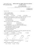 Đề kiểm tra HK 2 môn Hóa học lớp 11 năm 2016-2017 - TTGDTX Yên Lạc - Mã đề 256
