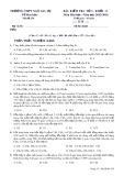 Đề kiểm tra 1 tiết môn Hóahọc lớp 11 - THPT Ngô Gia Tự - Mã đề 236