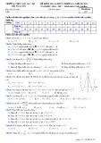Đề kiểm tra 45 phút chương 1 Giải tích lớp 12 - THPT Ngô Gia Tự - Mã đề 357
