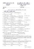 Đề kiểm tra 1 tiết môn Hóahọc lớp 11 - THPT Ngô Gia Tự - Mã đề 382