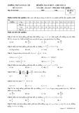 Đề kiểm tra 45 phút Giải tích lớp 12 - THPT Ngô Gia Tự - Mã đề 485