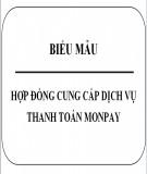 Hợp đồng cung cấp dịch vụ thanh toán Monpay