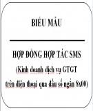 Hợp đồng hợp tác SMS (Kinh doanh dịch vụ GTGT trên điện thoại qua đầu số ngắn 8x00)