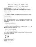 Đề thi giữa HK 2 lớp 9 môn Hóa năm 2015 có đáp án - Phòng GD&ĐT Việt Yên