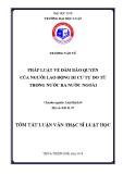 Tóm tắt Luận văn Thạc sĩ Luật học: Pháp luật về đảm bảo quyền của người lao động di cư tự do từ trong nước ra nước ngoài