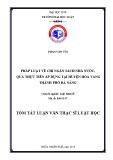 Tóm tắt Luận văn Thạc sĩ Luật học: Pháp luật về chi ngân sách nhà nước, qua thực tiễn áp dụng tại huyện Hòa Vang thành phố Đà Nẵng