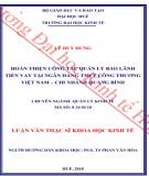 Luận văn Thạc sĩ Khoa học Kinh tế: Hoàn thiện công tác quản lý bảo lãnh tiền vay tại Ngân hàng Thương mại cổ phần Công thương Việt Nam – Chi nhánh Quảng Bình
