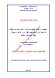 Luận văn Thạc sĩ Khoa học Kinh tế: Nâng cao chất lượng đội ngũ cán bộ, công chức tại Văn phòng Cục Thuế tỉnh Quảng Trị