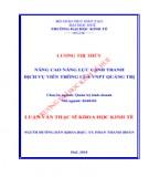 Luận văn Thạc sĩ Khoa học Kinh tế: Hoàn thiện công tác quản lý thuế nội địa đối với các doanh nghiệp dân doanh tại Chi cục Thuế thành phố Đồng Hới, tỉnh Quảng Bình