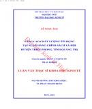 Luận văn Thạc sĩ Khoa học Kinh tế: Phát triển doanh nghiệp nhỏ và vừa trên địa bàn huyện Quảng Trạch - tỉnh Quảng Bình