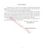 Luận văn Thạc sĩ Khoa học Kinh tế: Việc làm và thu nhập của lao động nông thôn huyện Quảng Trạch, tỉnh Quảng Bình
