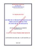 Luận văn Thạc sĩ Khoa học Kinh tế: Hoàn thiện công tác thẩm định tín dụng khách hàng doanh nghiệp tại Ngân hàng Thương mại cổ phần Công thương Việt Nam - Chi nhánh Quảng Trị