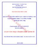 Luận văn Thạc sĩ Khoa học Kinh tế: Quản lý đầu tư xây dựng cơ bản từ nguồn vốn ngân sách nhà nước tại huyện Cam Lộ, tỉnh Quảng Trị