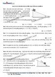 Bài toán chuyển động trên mặt phẳng nghiêng