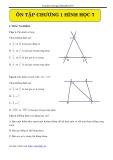 Ôn tập chương 1 hình học 7
