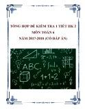 Tổng hợp đề kiểm tra 1 tiết HK 2 môn Toán 6 năm 2017-2018 có đáp án
